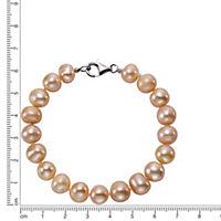 ZEEme Pearls Armband 925/- Sterling Silber Perle rosé - Produktdetailbild 1