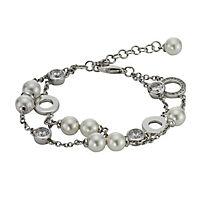 ZEEme Pearls Armband Messing Muschelkernperle weiß - Produktdetailbild 1