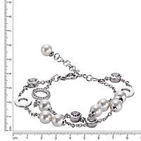 ZEEme Pearls Armband Messing Muschelkernperle weiß - Produktdetailbild 2