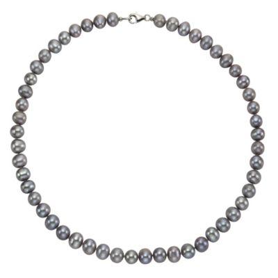 ZEEme Pearls Collier 925/- Sterling Silber Perle grau