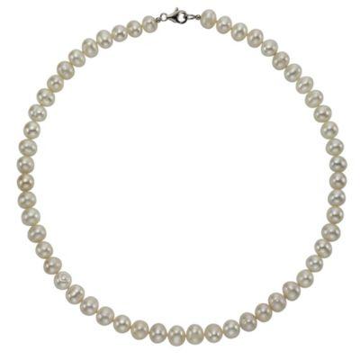 ZEEme Pearls Collier 925/- Sterling Silber Perle weiß