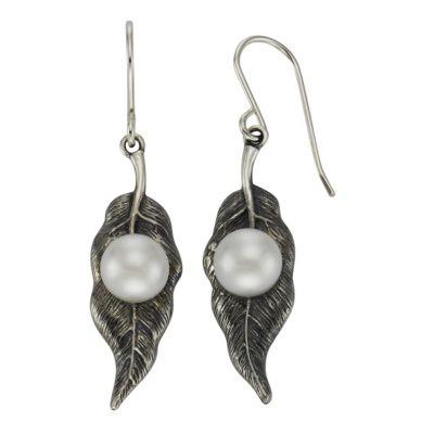 ZEEme Pearls Ohrhänger 925/- Sterling Silber Perle weiß