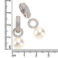 Zeeme Pearls Ohrhänger Zirkonia weiß 3,4cm rhodiniert - Produktdetailbild 1
