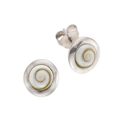ZEEme Pearls Ohrstecker 925/- Sterling Silber Muschel