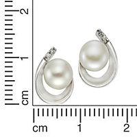 ZEEme Pearls Ohrstecker 925/- Sterling Silber Perle weiß - Produktdetailbild 1