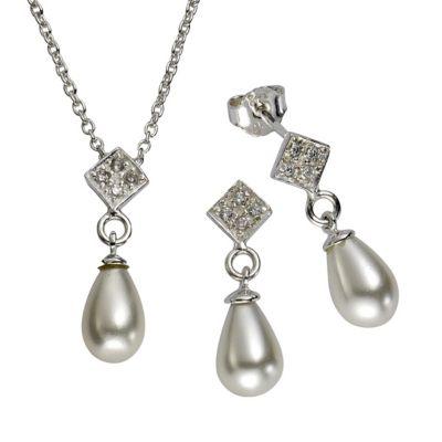 ZEEme Pearls Perlset 925/- Sterling Silber Perle weiß