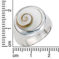 ZEEme Pearls Ring 925/- Sterling Silber Muschel weiß (Größe: 054 (17,2)) - Produktdetailbild 1
