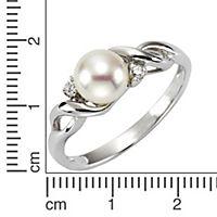 ZEEme Pearls Ring 925/- Sterling Silber Perle mit Zirkonia weiß (Größe: 054 (17,2)) - Produktdetailbild 1