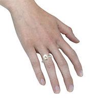 ZEEme Pearls Ring 925/- Sterling Silber Perle weiß mit Zirkonia (Größe: 060 (19,1)) - Produktdetailbild 2