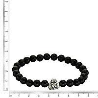 ZEEme Silver Armband 925/- Sterling Silber Achat schwarz - Produktdetailbild 1