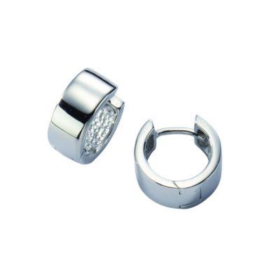 ZEEme Silver Creolen 925/- Sterling Silber hochglanzpoliert