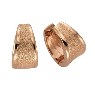 ZEEme Silver Creolen 925/- Sterling Silber rotvergoldet