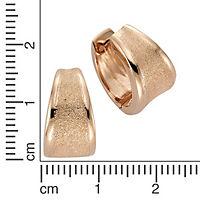 ZEEme Silver Creolen 925/- Sterling Silber rotvergoldet - Produktdetailbild 1