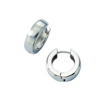 ZEEme Silver Creolen 925/- Sterling Silber mattiert
