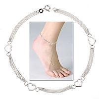 ZEEme Silver Fußkette 925/- Sterling Silber Herzmotiv - Produktdetailbild 1
