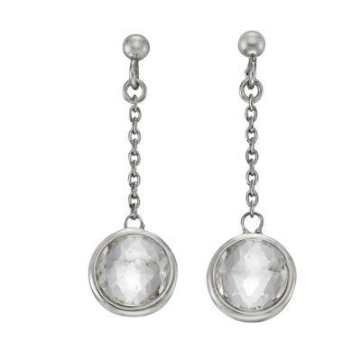 ZEEme Silver Ohrhänger 925/- Sterling Silber Swarovski Kirstalle