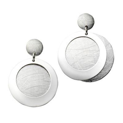 ZEEme Silver Ohrhänger 925/- Sterling Silber glanz matt