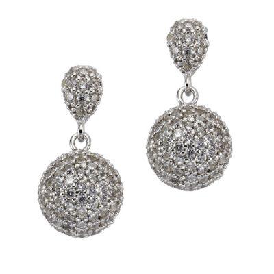 ZEEme Silver Ohrhänger 925/- Sterling Silber Zirkonia weiß