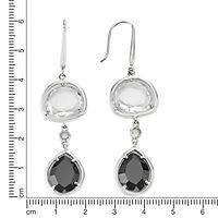 ZEEme Silver Ohrhänger 925/- Sterling Silber Zirkonia - Produktdetailbild 1