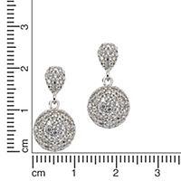 ZEEme Silver Ohrhänger 925/- Sterling Silber Zirkonia weiß - Produktdetailbild 1