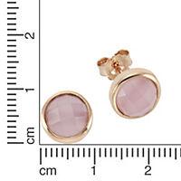 ZEEme Silver Ohrstecker 925/- Sterling Silber Glasstein pink - Produktdetailbild 1