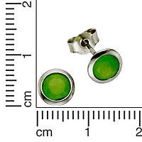 ZEEme Silver Ohrstecker 925/- Sterling Silber Jade grün - Produktdetailbild 1