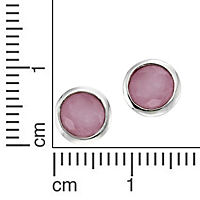 ZEEme Silver Ohrstecker 925/- Sterling Silber Jade pink - Produktdetailbild 1