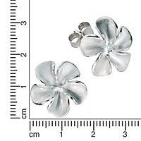 ZEEme Silver Ohrstecker 925/- Sterling Silber mattiert - Produktdetailbild 1