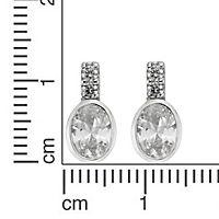 ZEEme Silver Ohrstecker 925/- Sterling Silber Zirkonia weiß - Produktdetailbild 1