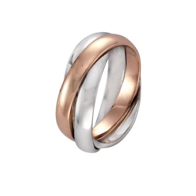ZEEme Silver Ring 925/- Sterling Silber 3rhg. (Größe: 054 (17,2))