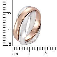 ZEEme Silver Ring 925/- Sterling Silber 3rhg. (Größe: 052 (16,6)) - Produktdetailbild 1