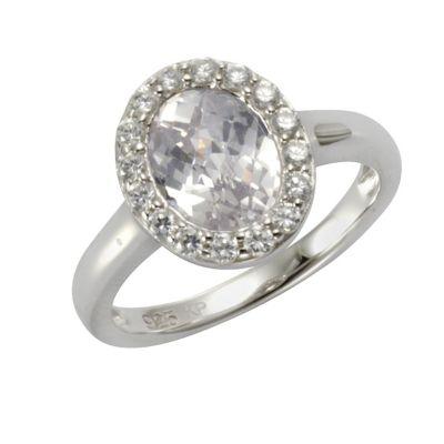 ZEEme Silver Ring 925/- Sterling Silber (Größe: 052 (16,6))