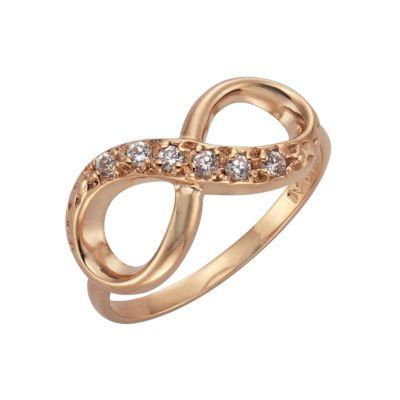 ZEEme Silver Ring 925/- Sterling Silber Infinity Zirkonia weiß (Größe: 054 (17,2))