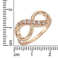 ZEEme Silver Ring 925/- Sterling Silber Infinity Zirkonia weiß (Größe: 060 (19,1)) - Produktdetailbild 1