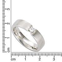 ZEEme Silver Ring 925/- Sterling Silber mattiert Zirkonia (Größe: 052 (16,6)) - Produktdetailbild 1