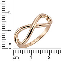 ZEEme Silver Ring 925/- Sterling Silber rotvergoldet IInfinity (Größe: 052 (16,6)) - Produktdetailbild 1