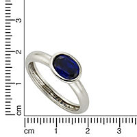 ZEEme Silver Ring 925/- Sterling Silber syn. Spinell dunkelblau (Größe: 054 (17,2)) - Produktdetailbild 1