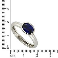 ZEEme Silver Ring 925/- Sterling Silber syn. Spinell dunkelblau (Größe: 058 (18,5)) - Produktdetailbild 1