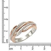 ZEEme Silver Ring 925/- Sterling Silber vergoldet (Größe: 054 (17,2)) - Produktdetailbild 1