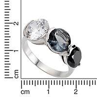ZEEme Silver Ring 925/- Sterling Silber Zirkonia mehrfarbig (Größe: 058 (18,5)) - Produktdetailbild 1