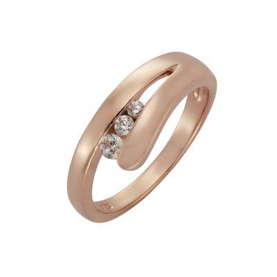 ZEEme Silver Ring 925/- Sterling Silber Zirkonia weiß (Größe: 019 (60,0))