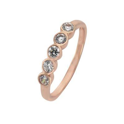 ZEEme Silver Ring 925/- Sterling Silber Zirkonia weiß (Größe: 052 (16,6))