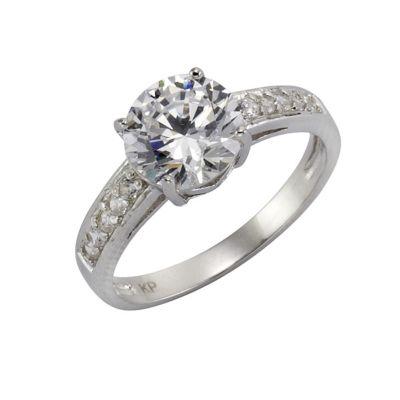 ZEEme Silver Ring 925/- Sterling Silber Zirkonia weiß (Größe: 056 (17,8))