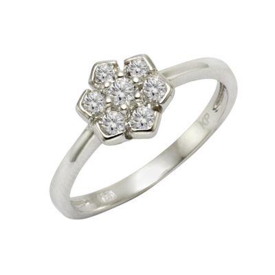 ZEEme Silver Ring 925/- Sterling Silber Zirkonia weiß (Größe: 060 (19,1))