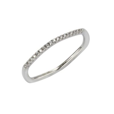 Zeeme Silver Ring 925/- Sterling Silber Zirkonia weiß Glänzend (Größe: 056 (17,8))
