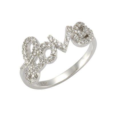 Zeeme Silver Ring 925/- Sterling Silber Zirkonia weiß Glänzend (Größe: 052 (16,6))