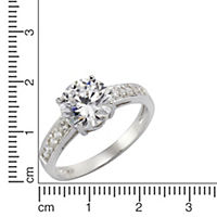 ZEEme Silver Ring 925/- Sterling Silber Zirkonia weiß (Größe: 060 (19,1)) - Produktdetailbild 1