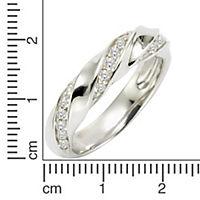 Zeeme Silver Ring 925/- Sterling Silber Zirkonia weiß Glänzend (Größe: 016 (50,5)) - Produktdetailbild 1