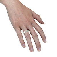 Zeeme Silver Ring 925/- Sterling Silber Zirkonia weiß Glänzend (Größe: 016 (50,5)) - Produktdetailbild 2