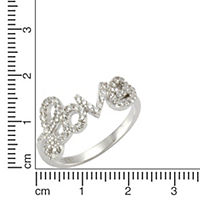 Zeeme Silver Ring 925/- Sterling Silber Zirkonia weiß Glänzend (Größe: 052 (16,6)) - Produktdetailbild 1